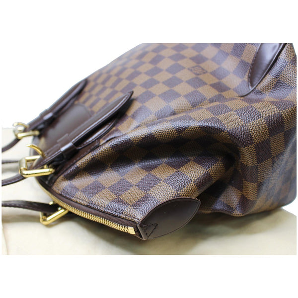 corners look Lv Verona MM Damier Ebene Satchel Bag