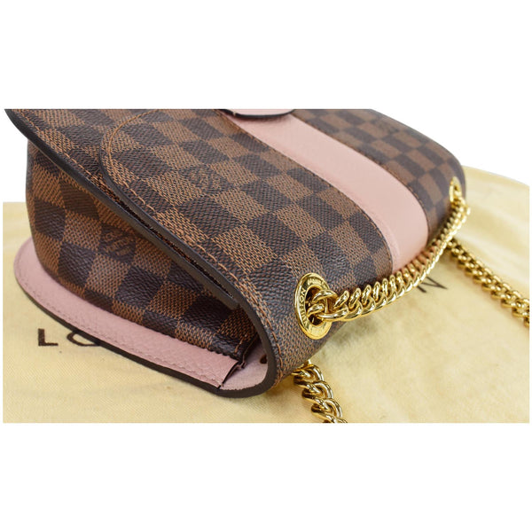 Louis Vuitton Wight Damier Ebene Crossbody Bag Magnolia - side close