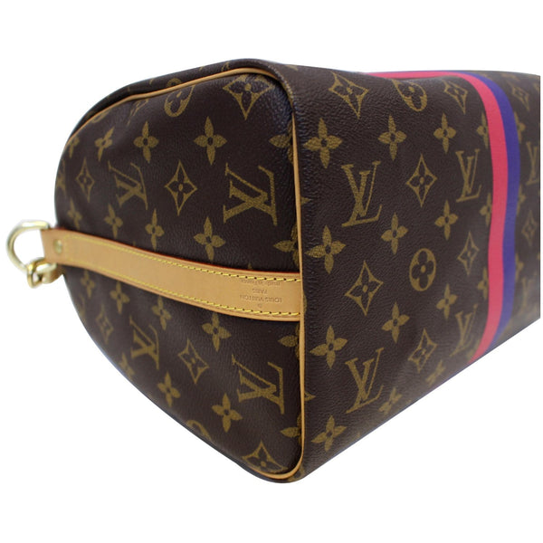 LV Speedy 30 Mon Bandouliere Canvas Bag - Bottom left view