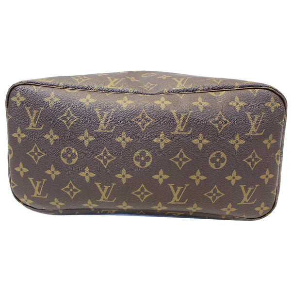 Louis Vuitton Neverfull MM Monogram Canvas Tote Bag - back view
