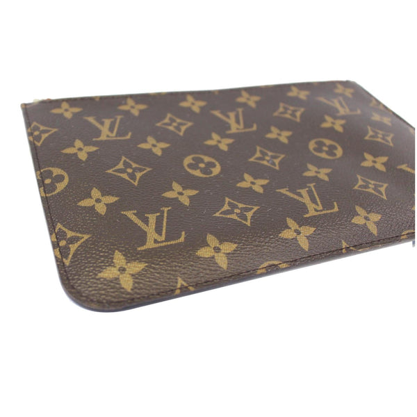 Louis Vuitton Neverfull MM Pouch Wristlet Pochette - full view