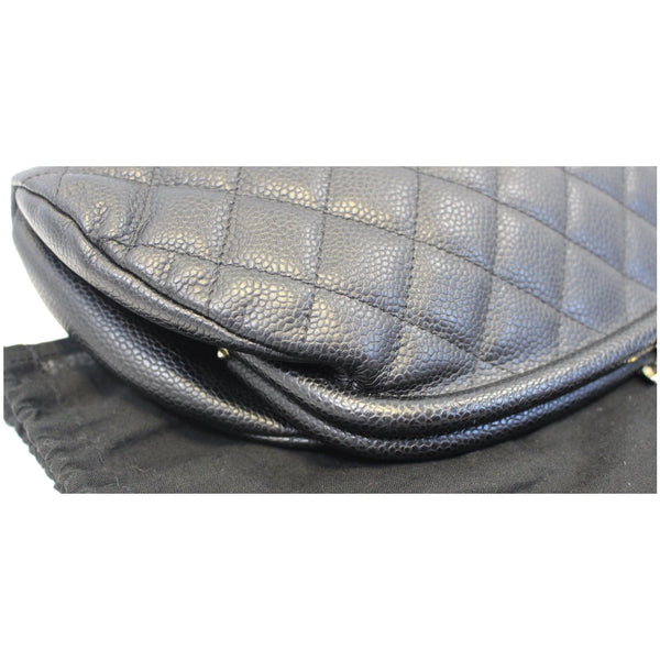 CHANEL Timeless Caviar Quilted Leather Clutch Black-US