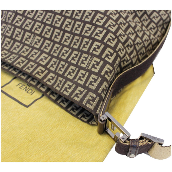 FENDI Zucchino Canvas Crossbody Bag Brown-US