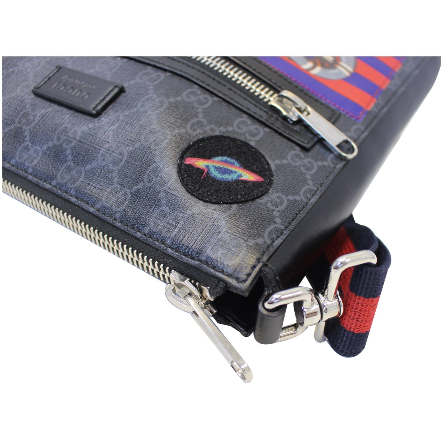 66ac9bfd3 GUCCI Night Courrier GG Supreme Messenger Crossbody Bag Black/Grey-US