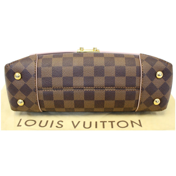 LOUIS VUITTON Caissa Chain Damier Ebene Clutch Shoulder Bag Rose Ballerine
