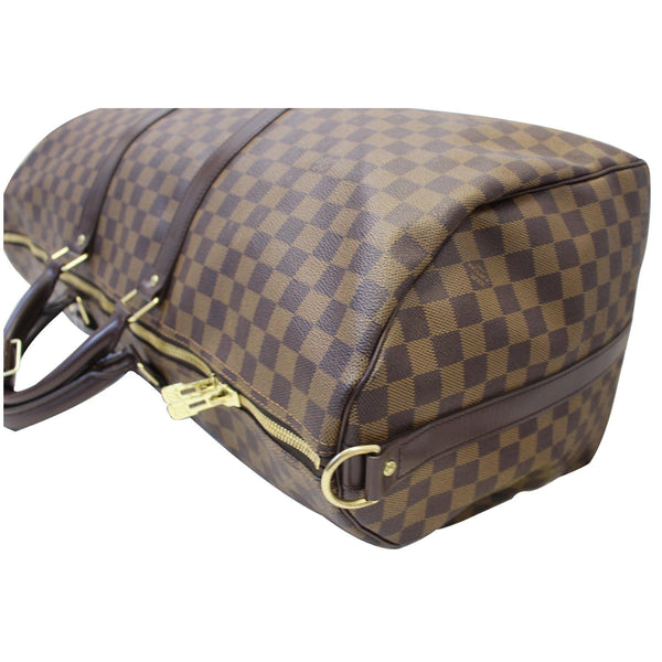 LOUIS VUITTON Keepall Bandouliere 55 Damier Ebene Travel Bag