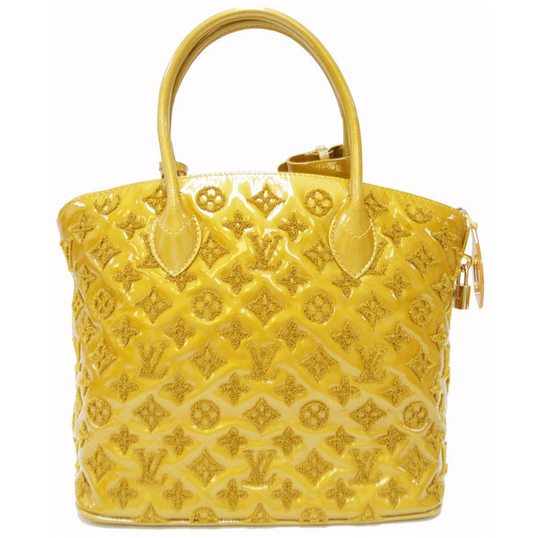 LOUIS VUITTON Monogram - Lockit lambskin Satchel Bag Mustard yellow