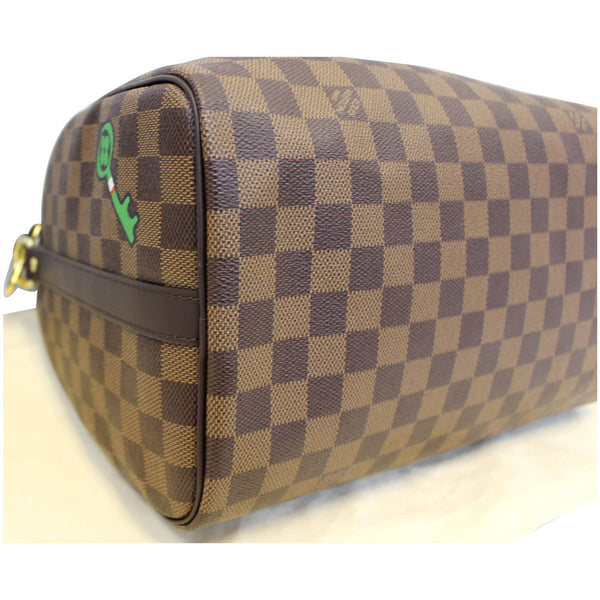 Louis Vuitton Speedy 30 Patches Damier Ebene Bag left