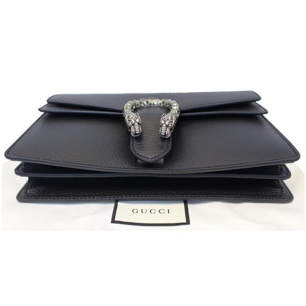 Gucci Shoulder Bag Dionysus Small Leather Black - front view