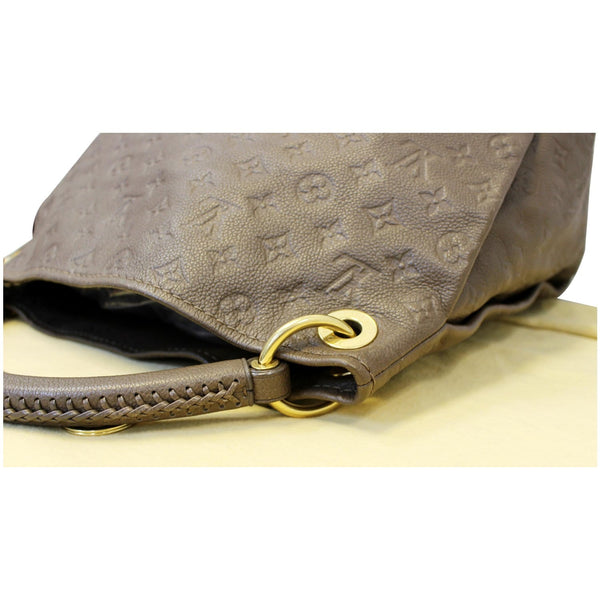 LV Artsy MM Empreinte Leather Shoulder Bag in Brown