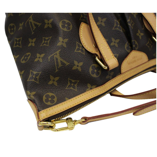 LOUIS VUITTON Palermo PM Monogram Canvas Shoulder Bag Brown