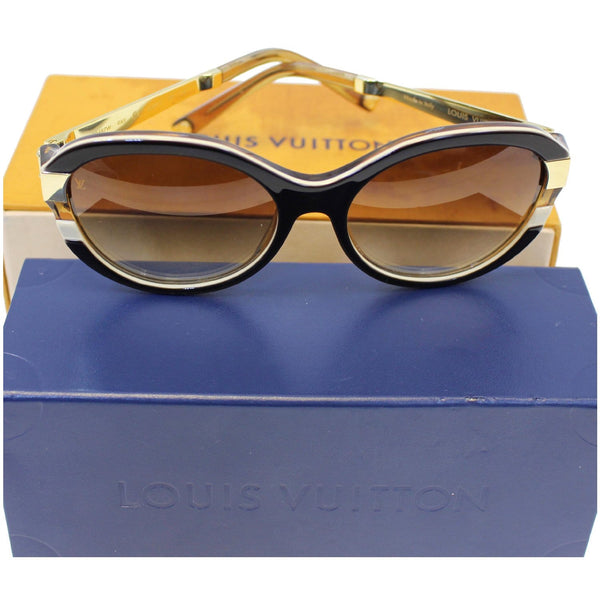 LOUIS VUITTON Petit Soupcon Cat Eye Sunglasses Brown/Gold Z0487W-US