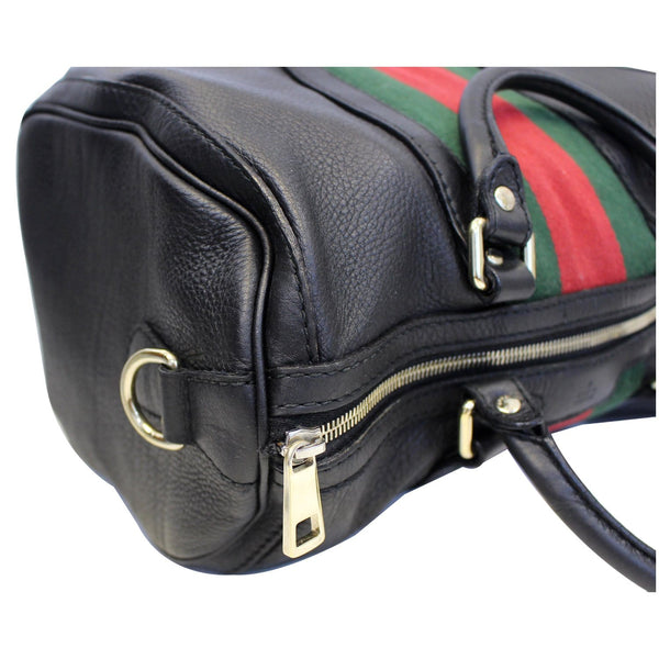 Gucci Web Medium Leather Bag | Zip side view