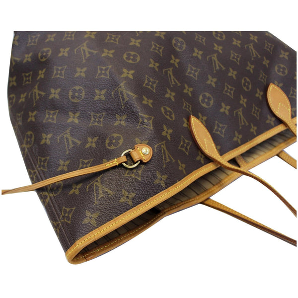 side view lv Neverfull GM Monogram Canvas Tote Bag