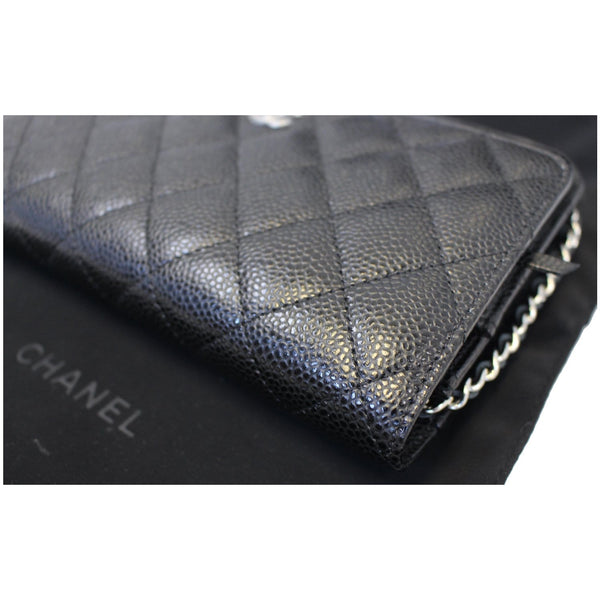 CHANEL Wallet on Chain WOC Caviar Leather Crossbody Bag Black
