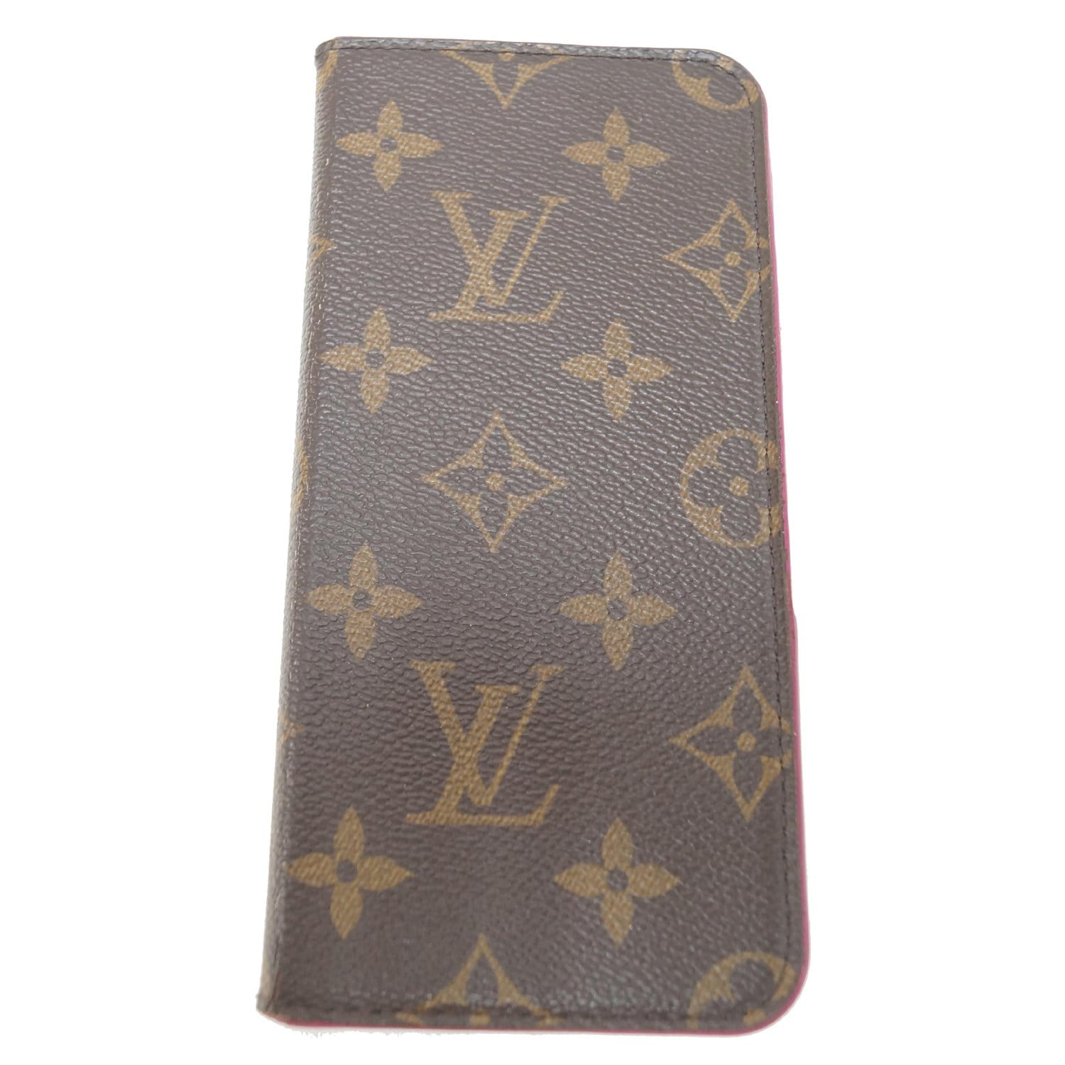 uk availability 172eb 5bf99 LOUIS VUITTON IPhone 7 Plus Folio Monogram Canvas Phone Case Brown-US