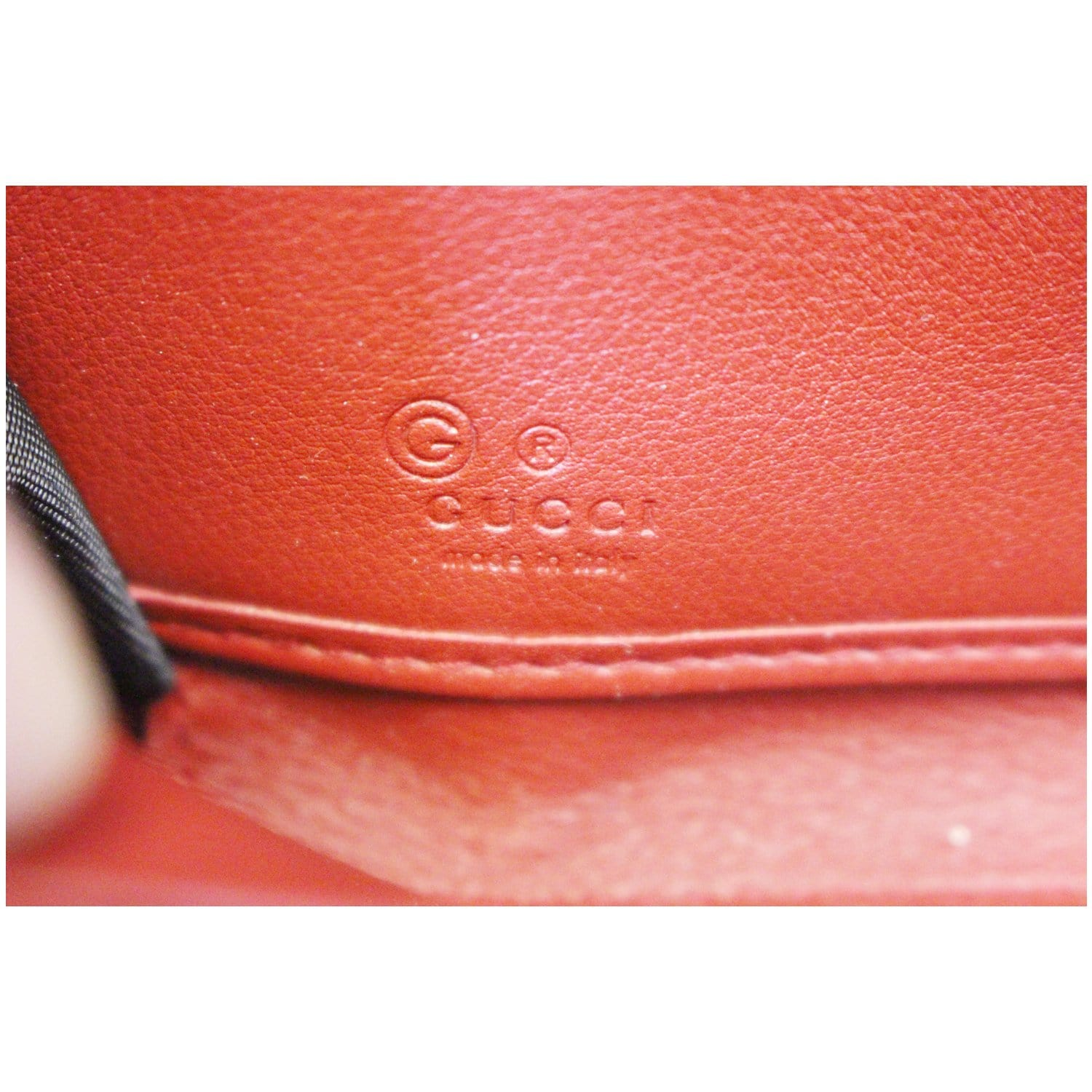 08b805942289 GUCCI Leather Micro GG Guccissima Zip Around Wallet Red-US