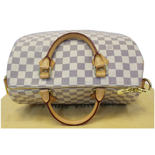 LOUIS VUITTON Speedy 30 Damier Azur Bandouliere Satchel Bag White-US
