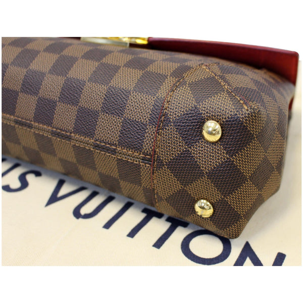 LOUIS VUITTON Caissa Chain Damier Ebene Clutch Shoulder Bag Brown