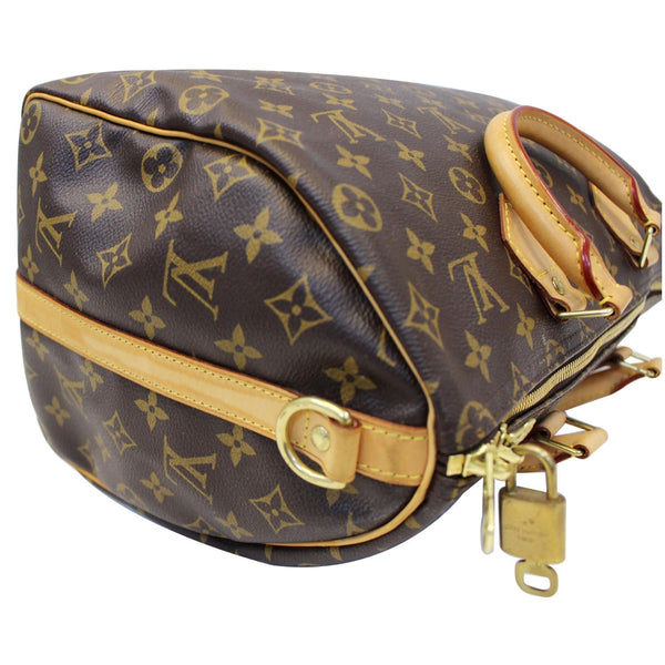 LOUIS VUITTON Speedy 35 Bandouliere Monogram Canvas Satchel Bag