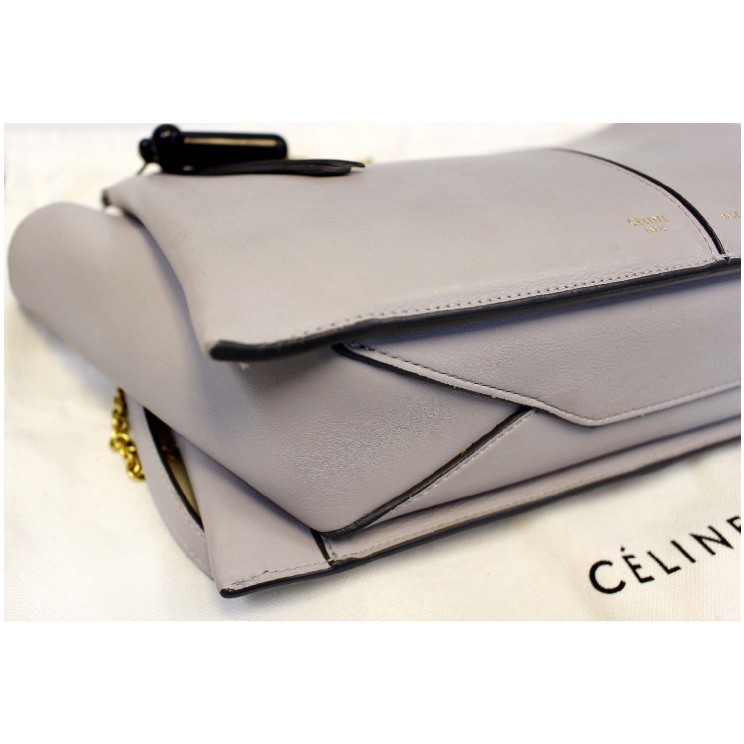 28135fd08 CELINE Tri-Fold Clutch on Chain Smooth Calfskin Crossbody Bag-US