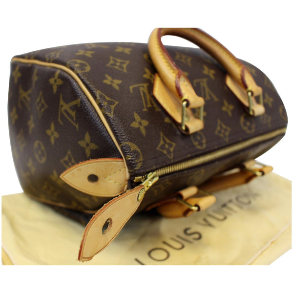LOUIS VUITTON Speedy 25 Monogram Canvas Satchel Bag Brown-US