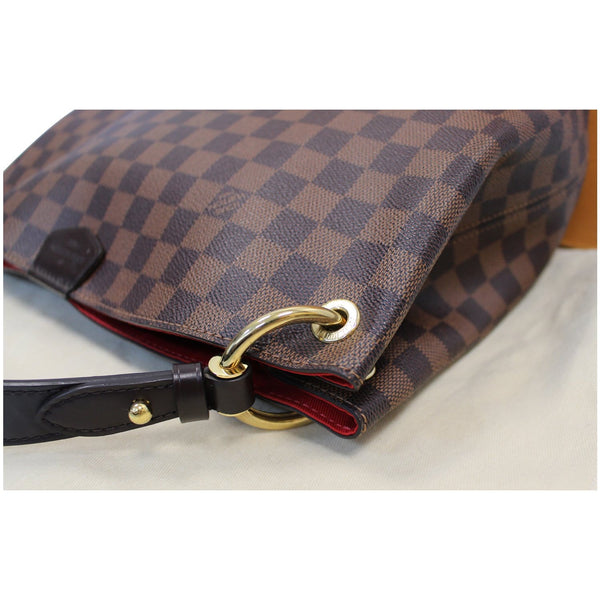 Louis Vuitton Graceful PM Damier Ebene Shoulder Bag side view