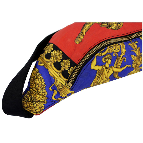 VERSACE Baroque and Leopard-Print Satin Belt Bag Multicolor-US