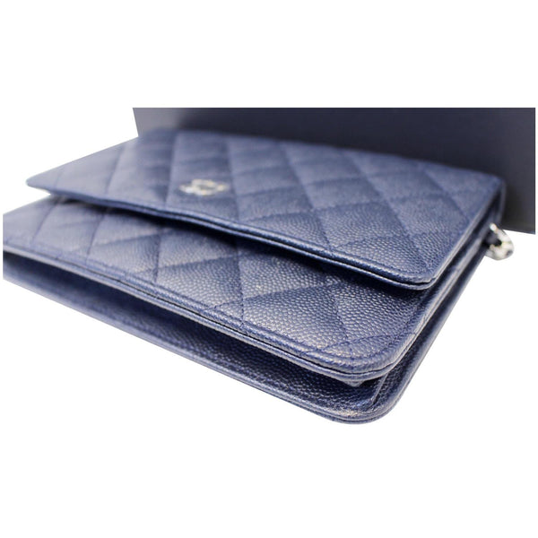 CHANEL Wallet On Chain WOC Clutch Crossbody Bag Navy-US