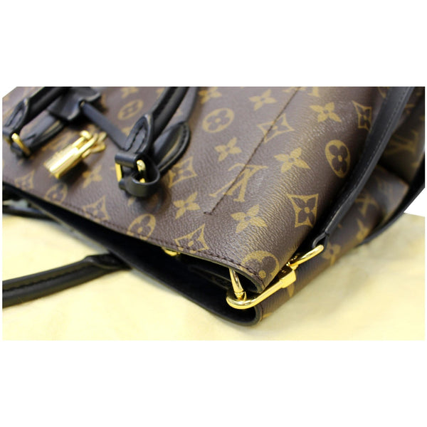 LOUIS VUITTON Flower Monogram Canvas Tote Bag Brown