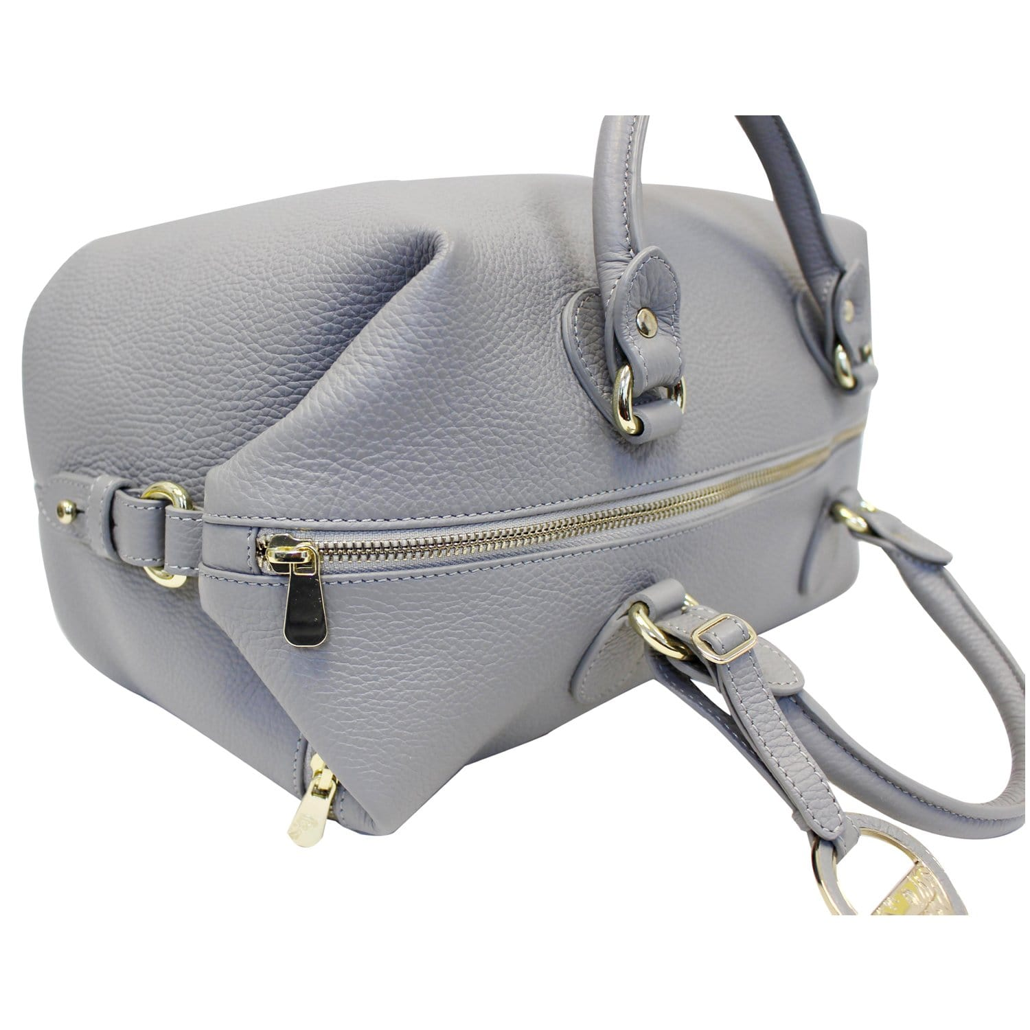 d241e0d808 Versace Collection Pebbled Leather Shoulder Bag Grey-US