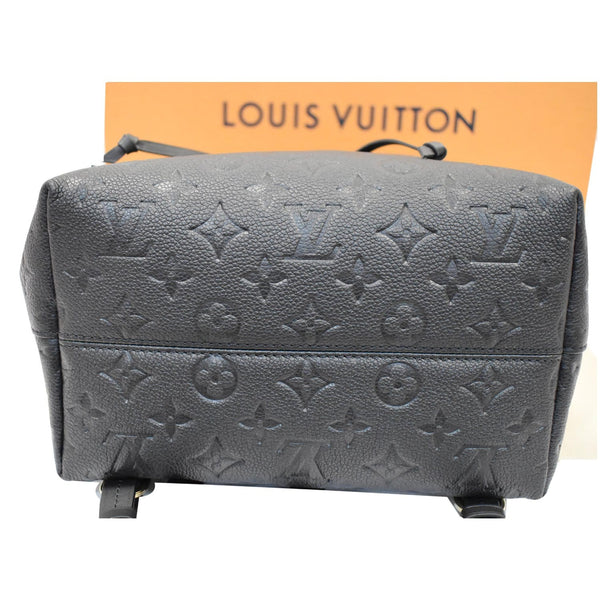 Louis Vuitton Montsouris Empreinte Leather Backpack Bag - base with logos