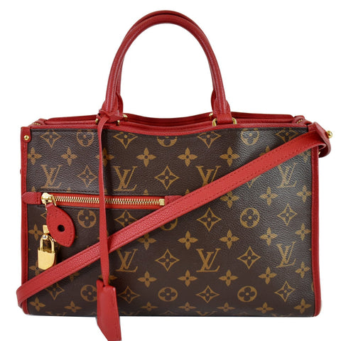 LOUIS VUITTON Popincourt PM Monogram Canvas Shoulder Bag Red