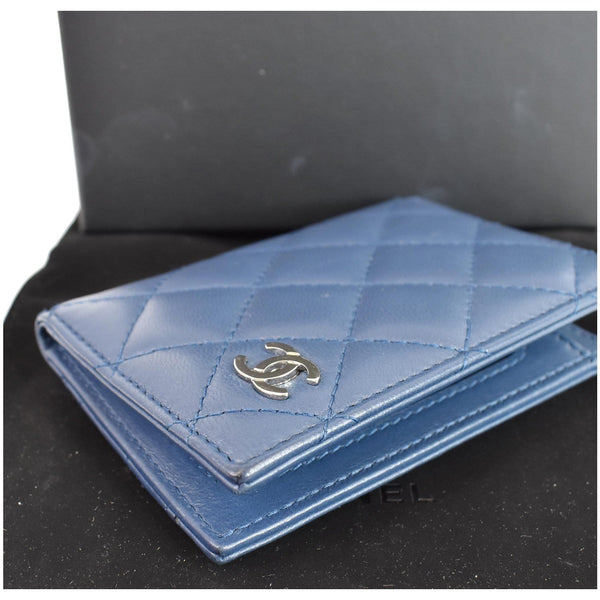 Chanel Classic Folded Leather Card Holder Wallet Men