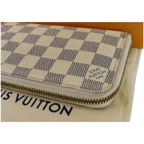 Louis Vuitton Damier Azur Zippy Organizer Wallet White - upside view