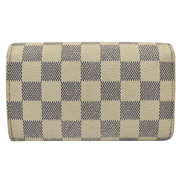 Louis Vuitton Zippy Damier Azur Wallet White - blue checks