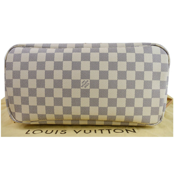 Louis Vuitton Neverfull MM Damier Azur Shoulder Bag bottom side