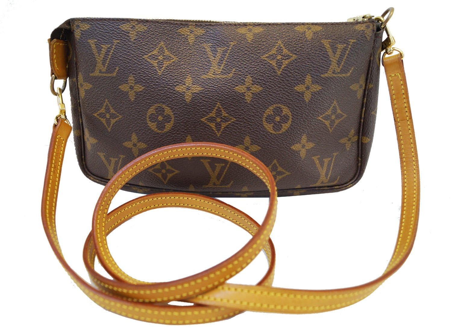 08f33798fc00 Authentic LOUIS VUITTON Monogram Pochette Accessoires Long Shoulder Po