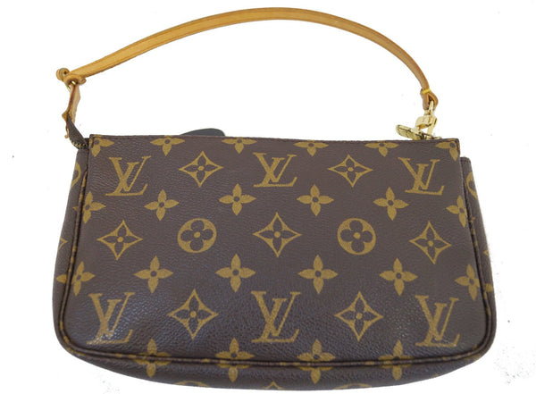 Authentic LOUIS VUITTON Monogram Pochette Accessoires Pouch TT1379