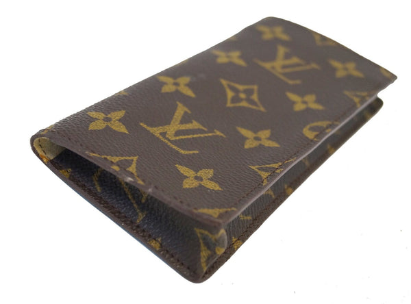 Authentic LOUIS VUITTON Monogram Etui a lunettes Simple Glasses Case TT1372