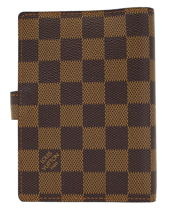 LOUIS VUITTON Damier Ebene Agenda Pm Day Planner Cover