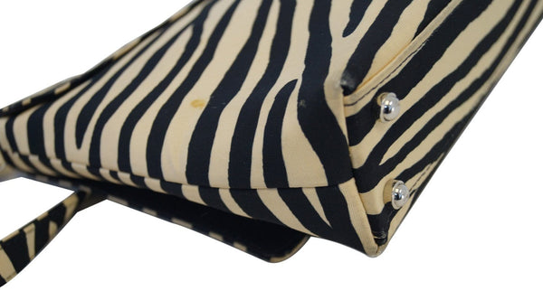 Kate Spade Shoulder Bag - Kate Spade Zebra Print Bag - back view