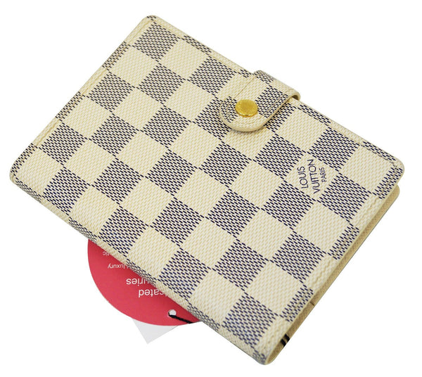 LOUIS VUITTON Damier Azur Agenda PM Day Planner Cover
