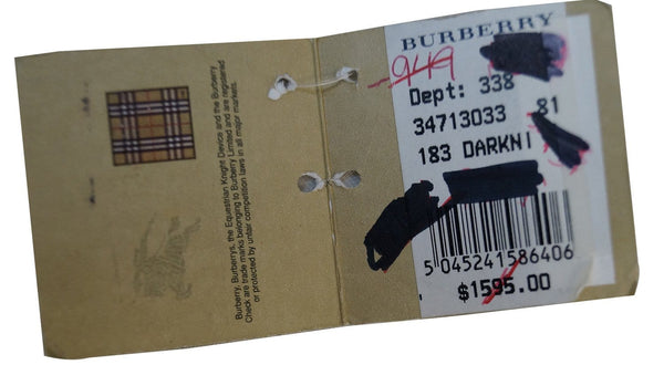 Burberry Necklace Adjustable - Authentication Card