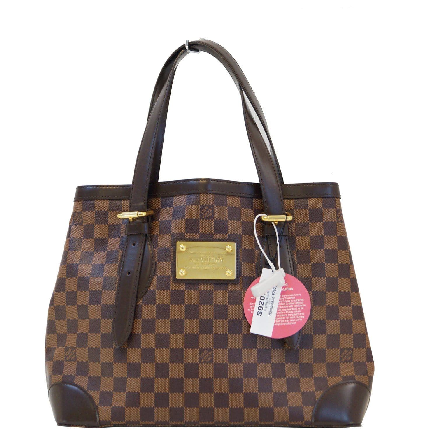 e704c5266d29 LOUIS VUITTON Hampstead MM Damier Ebene Shoulder Handbag