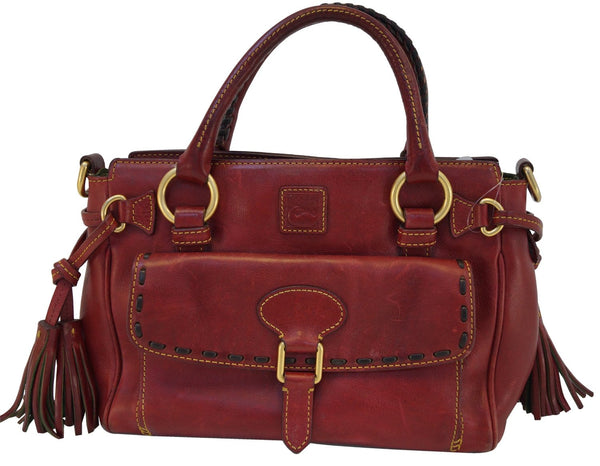 Dooney and Bourke Bags - Leather Red Shoulder Hobo Bag