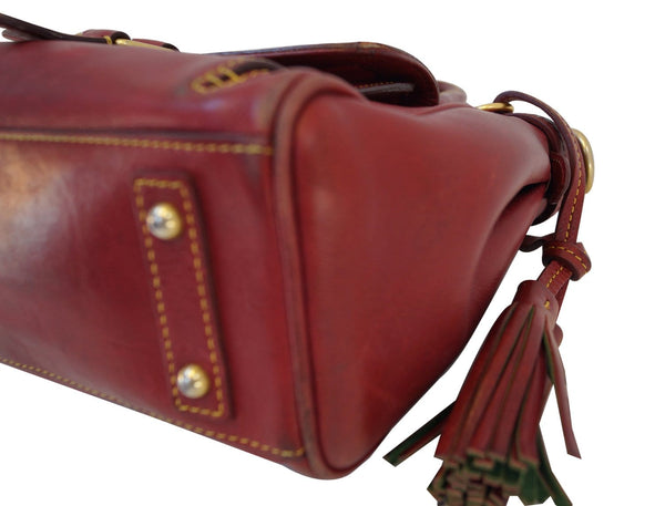 Dooney and Bourke Bags - Leather Red Shoulder Hobo Bag - bottom view