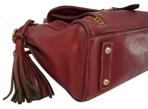Dooney and Bourke Bags - Leather Red Shoulder Hobo Bag - on sale
