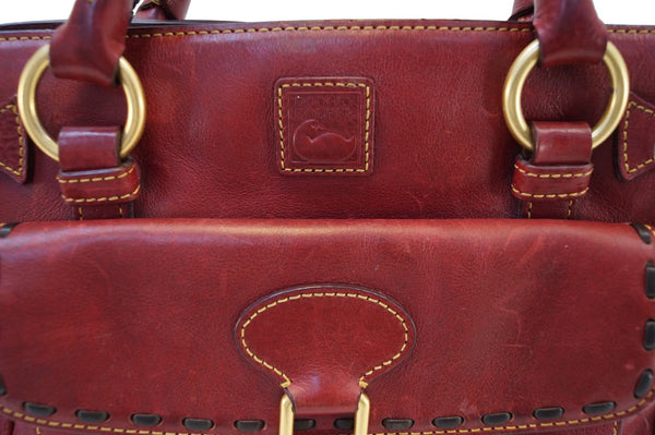 Dooney and Bourke Bags - Leather Red Shoulder Hobo Bag -  buckles