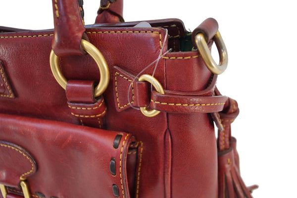 Dooney and Bourke Bags - Leather Red Shoulder Hobo Bag - red bags
